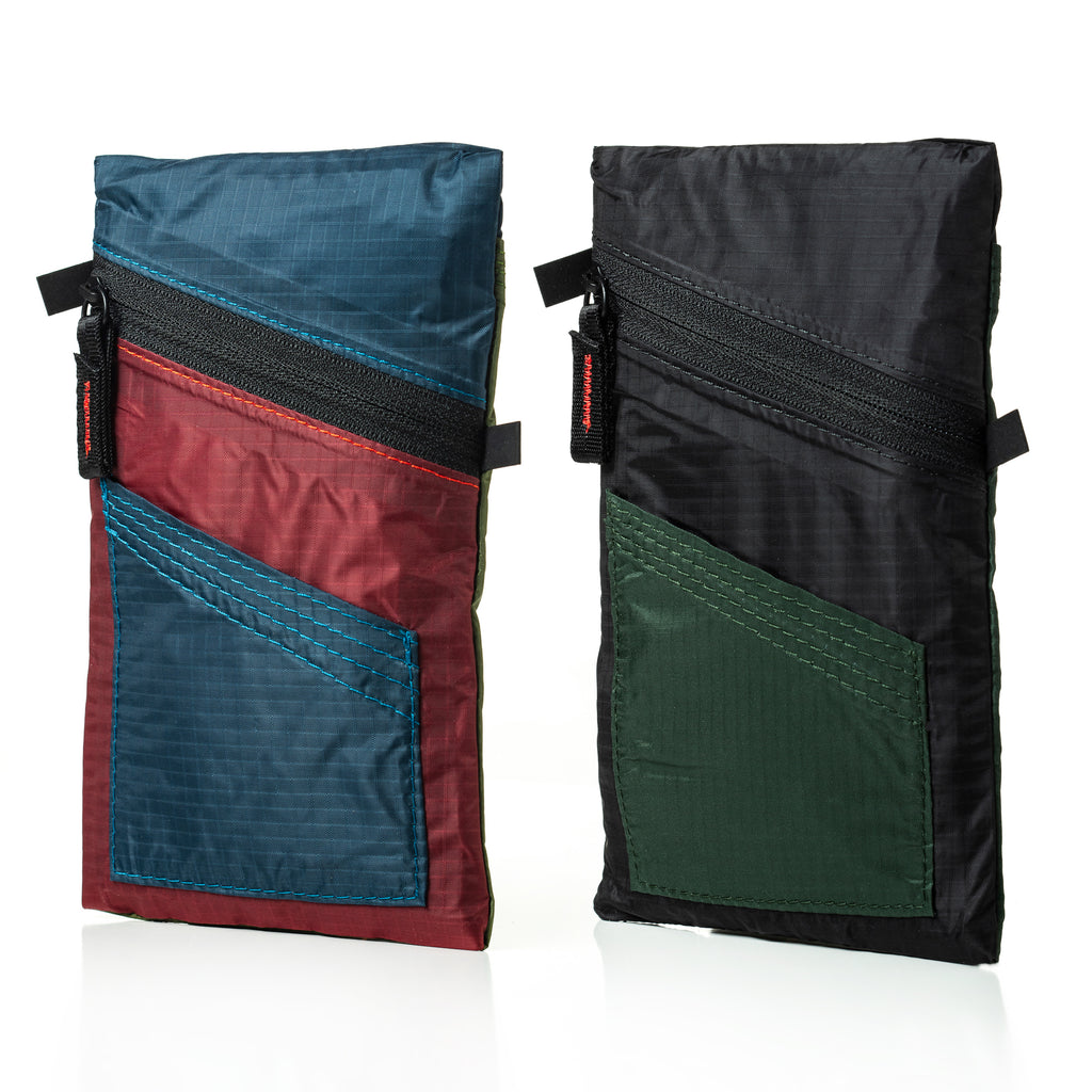 Two color options of Fierce Hazel Echelon Ultralightweight weatherproof seam-sealed cycling pouch sustainable zipper phone pouch 30D PU + silicon-coated nylon
