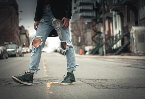 ripped jeans history