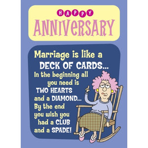 Woman in Rocking Chair-Anniversary Card