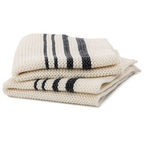 Striped Knit Dishcloth