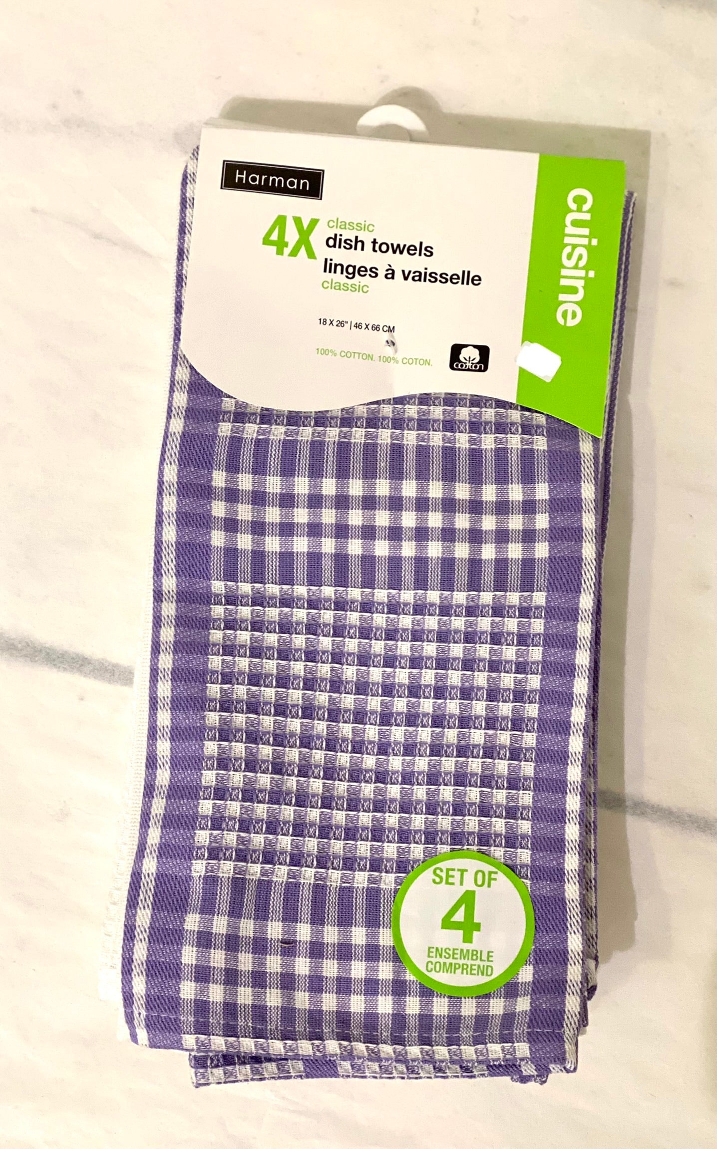 Dish Towels - Purple (4 pack)