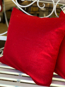 Red Linen Cushion