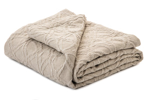 Brunelli Römer Natural Blanket with Shams **store pickup only**