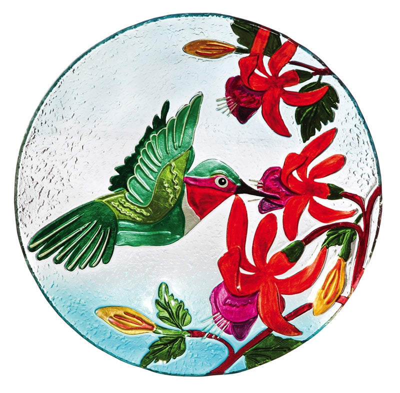 Hummingbird Indoor/Outdoor Art/Birdbath