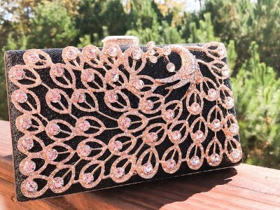 Affordable black clutch formal