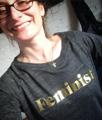 feminist tee shirt, long sleeve