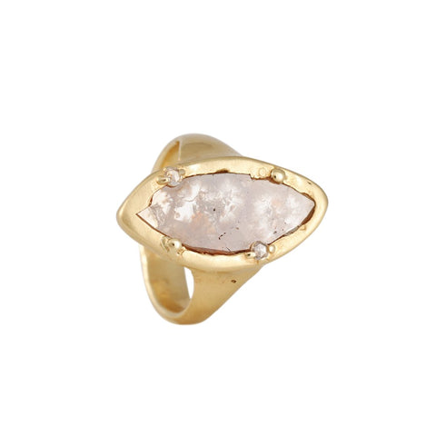 Atelier Narcé - North South Marquise Rose Cut Diamond Ring