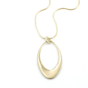Philippa Roberts - Large Open Oval Necklace in Gold Vermeil