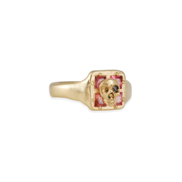 Atelier Narcé - Square Skull Band with Rose Cut Diamond