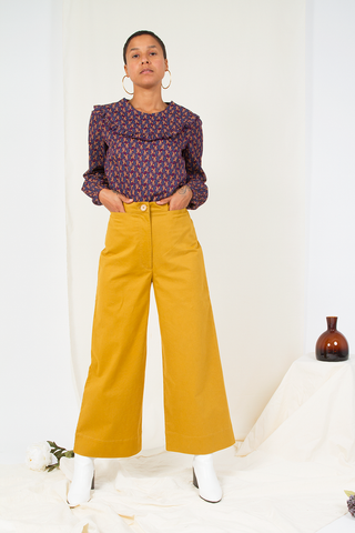 A-Line Cotton Twill Pant