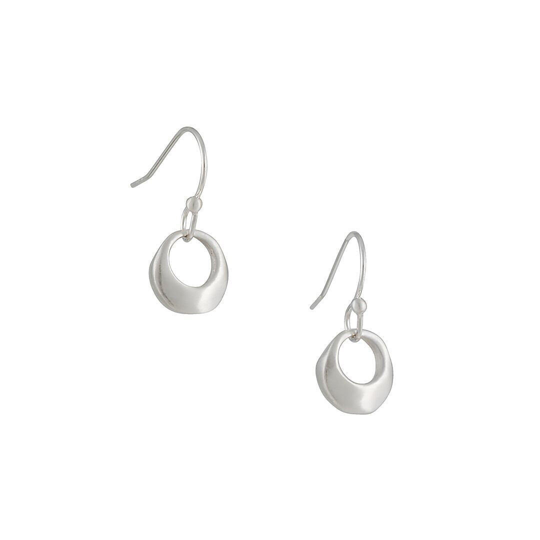 Philippa Roberts - Organic Ring Earrings in Sterling Silver