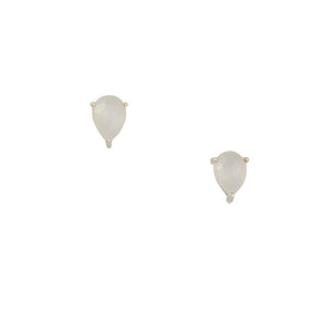 Tashi - Pear Moonstone Stud Earrings