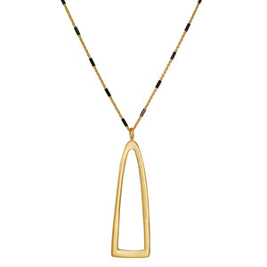 Phillipa Roberts - Long Half Open Mix Necklace in Gold Vermeil