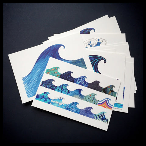 Turn the Tide Vote Blue postcard sets