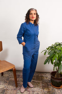 Pre-Order: Rosie Jumpsuit Straight in Lapis