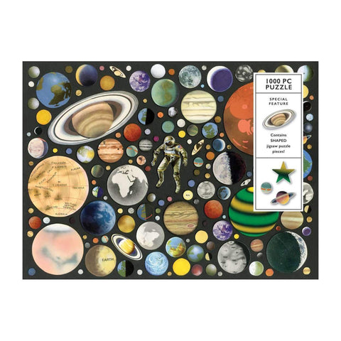 1000 Piece Zero Gravity Jigsaw Puzzle with Shaped Pieces
