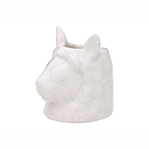 Stoneware Llama Head Indoor Decorative Planter