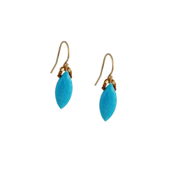 Danielle Welmond - Marquise Turquoise Drop Earrings