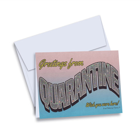 Greetings from Quarantine Greeting Card