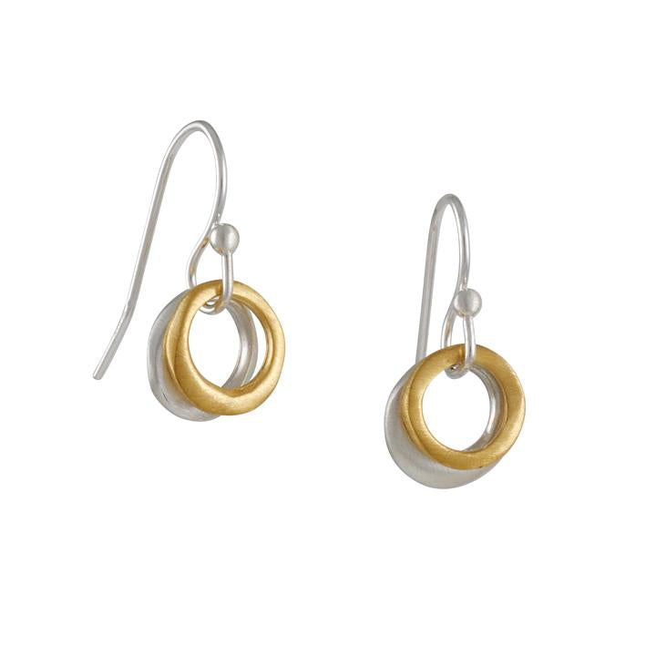 Philippa Roberts - Mixed Metal Circle Earrings