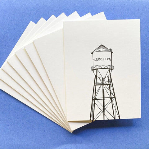 Brooklyn Water Tower Greeting Note Card Set