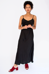 Silk Crepe Slip Dress
