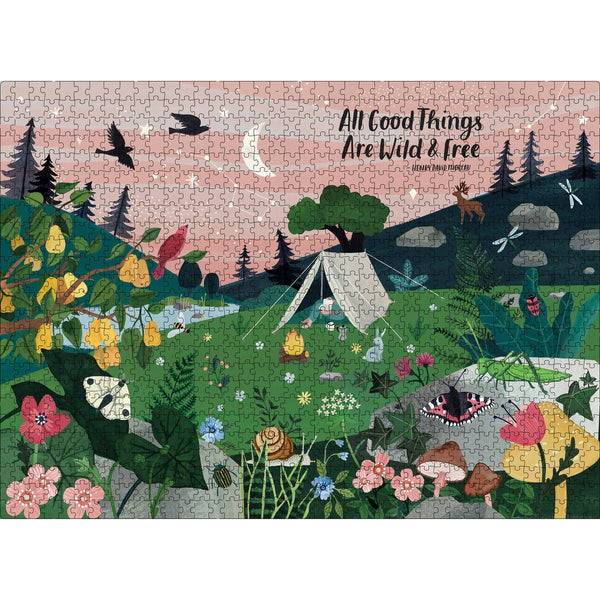 1000 Piece All Good Things Are Wild and Free Jigsaw Puzzle