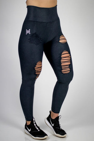 HB Distressed Highwaist Leggings