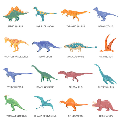 Names of dinosaurs for kids 8 years