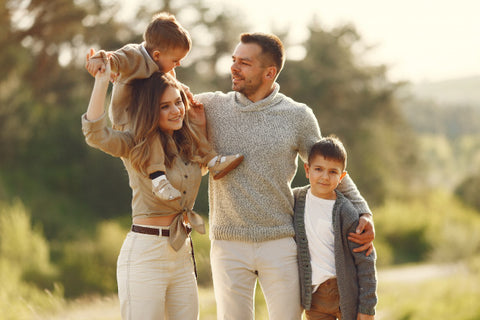 Kid playing with family- Maintain mental & physical health-Luma World