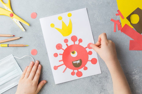 Craft Ideas for kids with use of newspaper, pamplets etc-Luma World