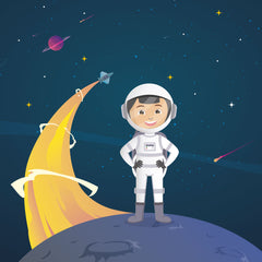 spot the difference activity for kids outer space