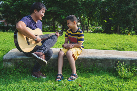 family tradition of father son playing music