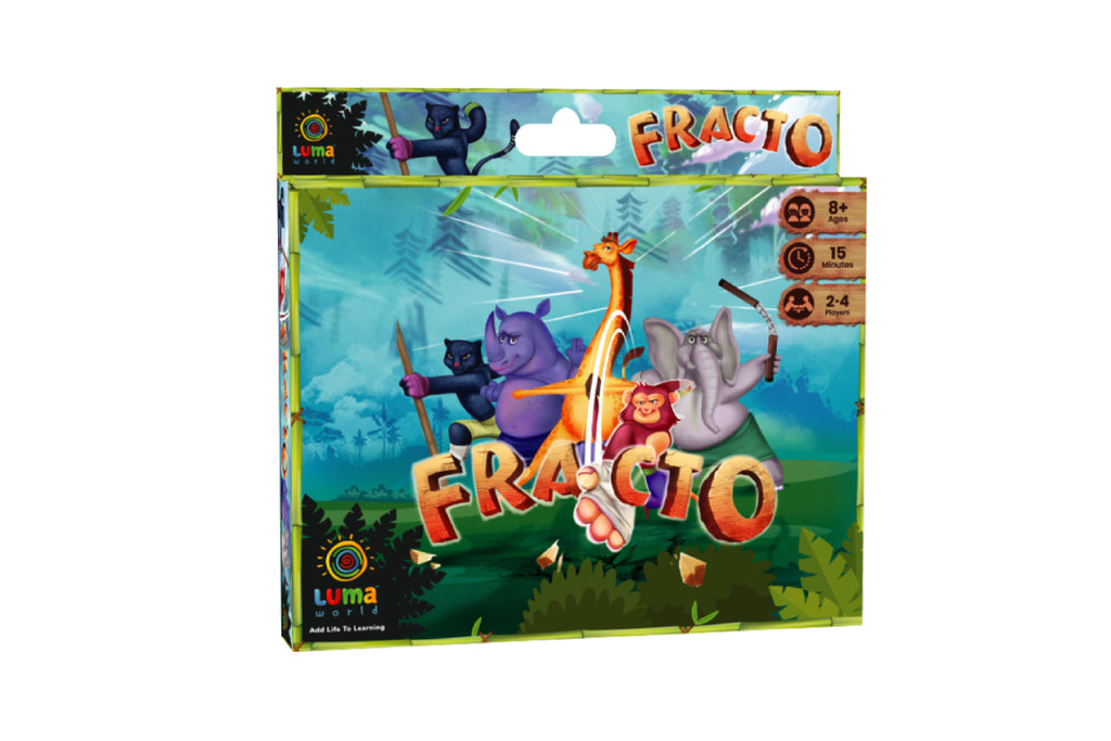Card game for kids-Fracto-luma world