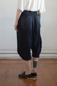 Cotton Jersey Drawstring Oblique Pants
