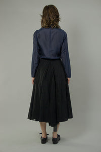 Cotton Organdy Bustle Skirt