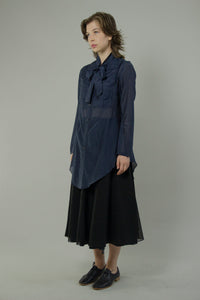 Gathered Bib Shirt