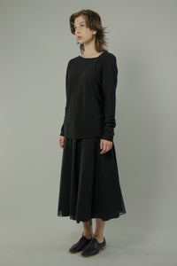 Sloping Neckline Sweater