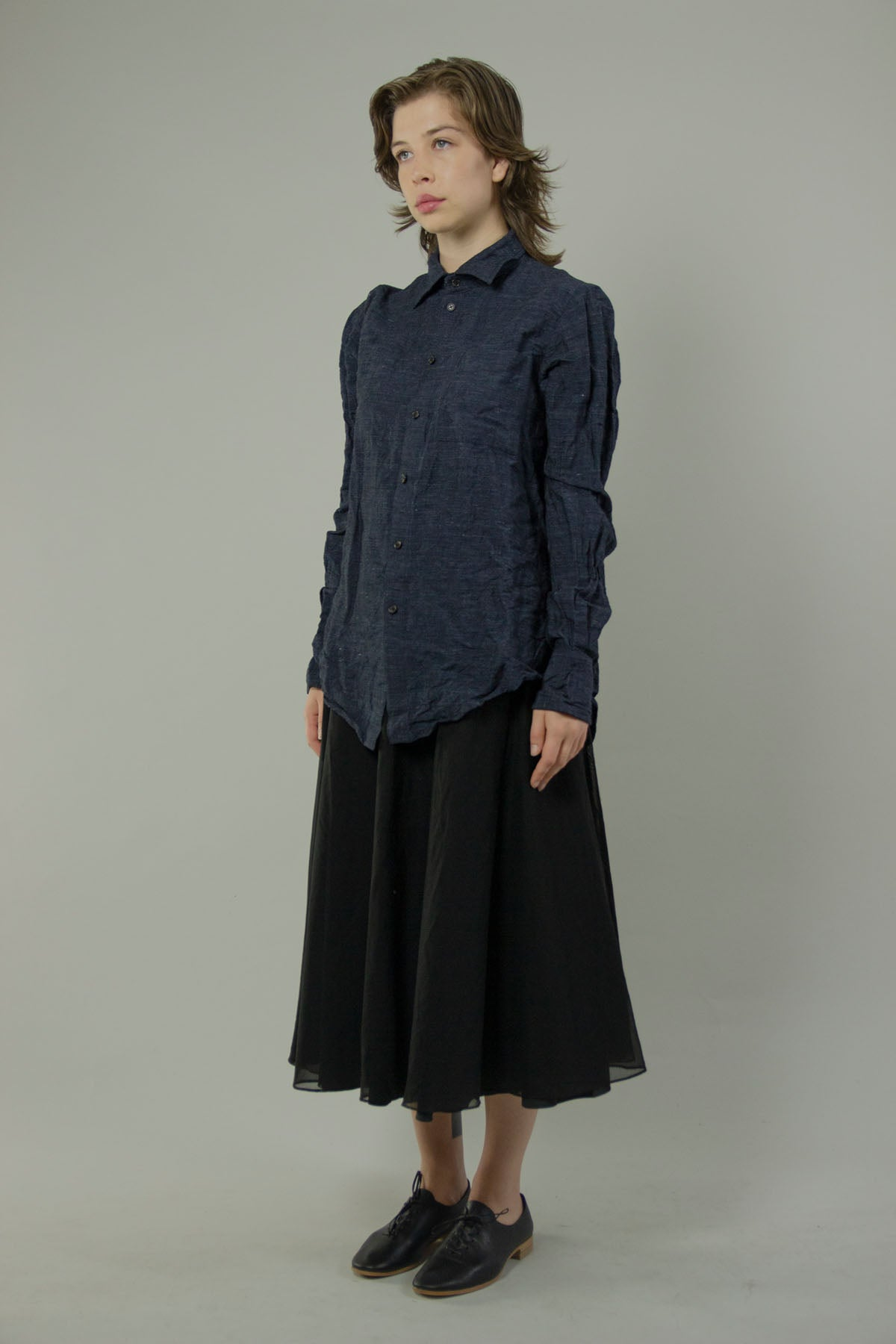Wide Spread Collar Shirt