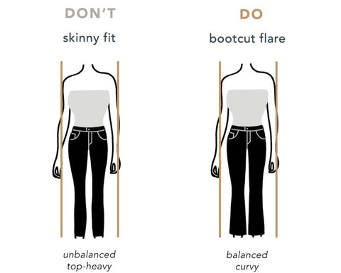 hourglass body do's and don'ts, what to do and what not to do to get hourglass body, hourglass body skirts,