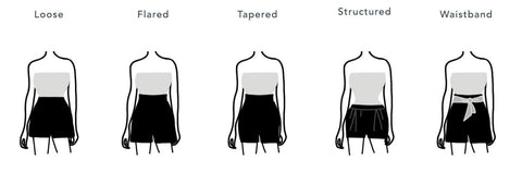 shorts to look sexy, shorts to get hourglass body, hourglass shape skirts