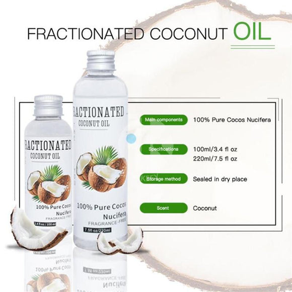 Organic Extra Virgin Cold Pressed Coconut Oil for Skin  and Hair Care - skin  shiny  relaxation  oil  Health  hair  grow  cold pressed  coconut  beautiful - Authentic Option