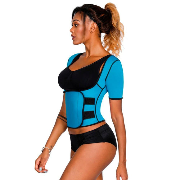 Sauna Sweat Waist Corset Tummy Shaper for women Women. Slimming Shapewear Top - [WOMEN SHAPER  Weight loss  thermal  suana  SLIMMING BELT  slimming  slim face  shape  look slim  Health  fat burner  corset  body shaper  body  bmi  belt  belly  beautiful  appetite control - Authentic Option