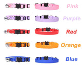 Personalized ID Free Engraving Cat Collar Safety Breakaway Small Dog Cute Nylon Adjustable for Puppy Kittens Necklace - Authentic Option