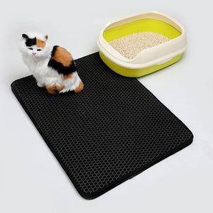 Waterproof Pet Cat Litter Mat EVA Double Layer Cat Litter Trapping Pets Mat Pad Bottom Non-slip Pet Litter Cat Mat Floor - Authentic Option