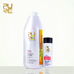 Damaged hair repair with 12% formalin 1L .  repair  purifying  keratin  hair care  hair  damage  12% formalin