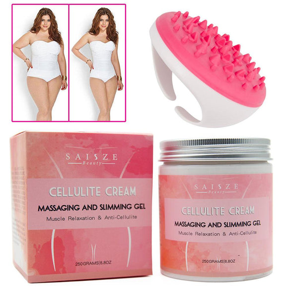 Anti Cellulite Fat Burner Creams with Free Handheld Full Body Massage Brush - Weight loss  slimming  massage brush  fat burner  cream  cellulite  brush  body shaper  body  bmi  belt  belly  ascorbic acid  appetite control  antiaging  anti cellulite  adipose  - Authentic Option
