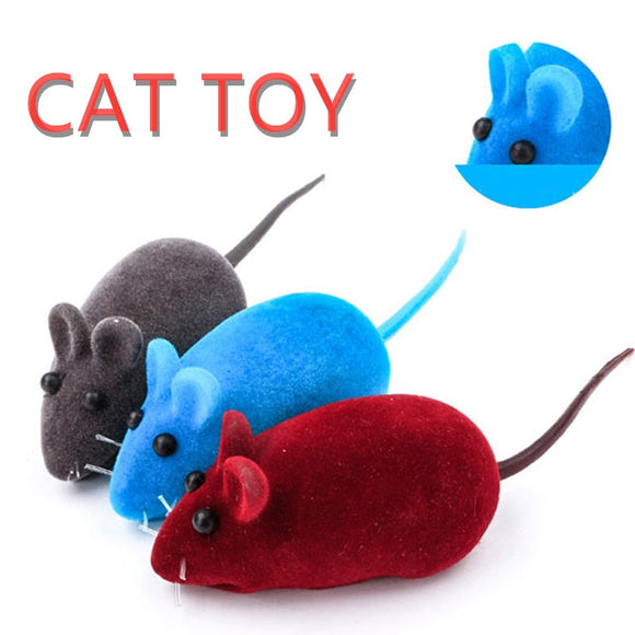 2020 Simulation Plush Mouse Cat Toy, Realistic Sound Flocking Mouse Funny Cat Pet Accessories, Mini Fun Pet Interactive Supplies