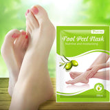 Exfoliating Foot Peel Mask for Pedicure scrubbing  home pedicure  pedicure  peel off  exfoliating  shine  rejuvenate  herbal  treatment  beautiful  Health  shiny skin  smooth skin  baby feet  gentle  foot peel mask  foot peel  dry skin feet  dry feet  foot
