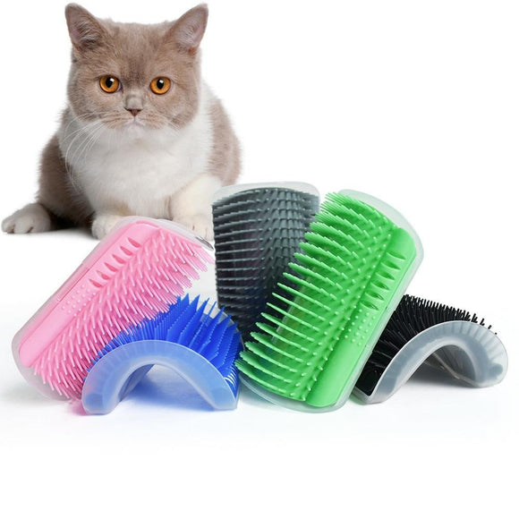 Pet Cat Self Groomer With Catnip Grooming Tool Hair Removal Brush Comb For Cats Hair Shedding Trimming Dog Cat Massage Device - Authentic Option
